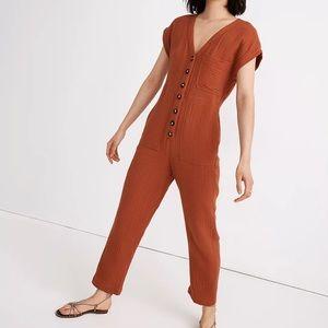Madewell Lightspun Cap-Sleeve Jumpsuit NA288